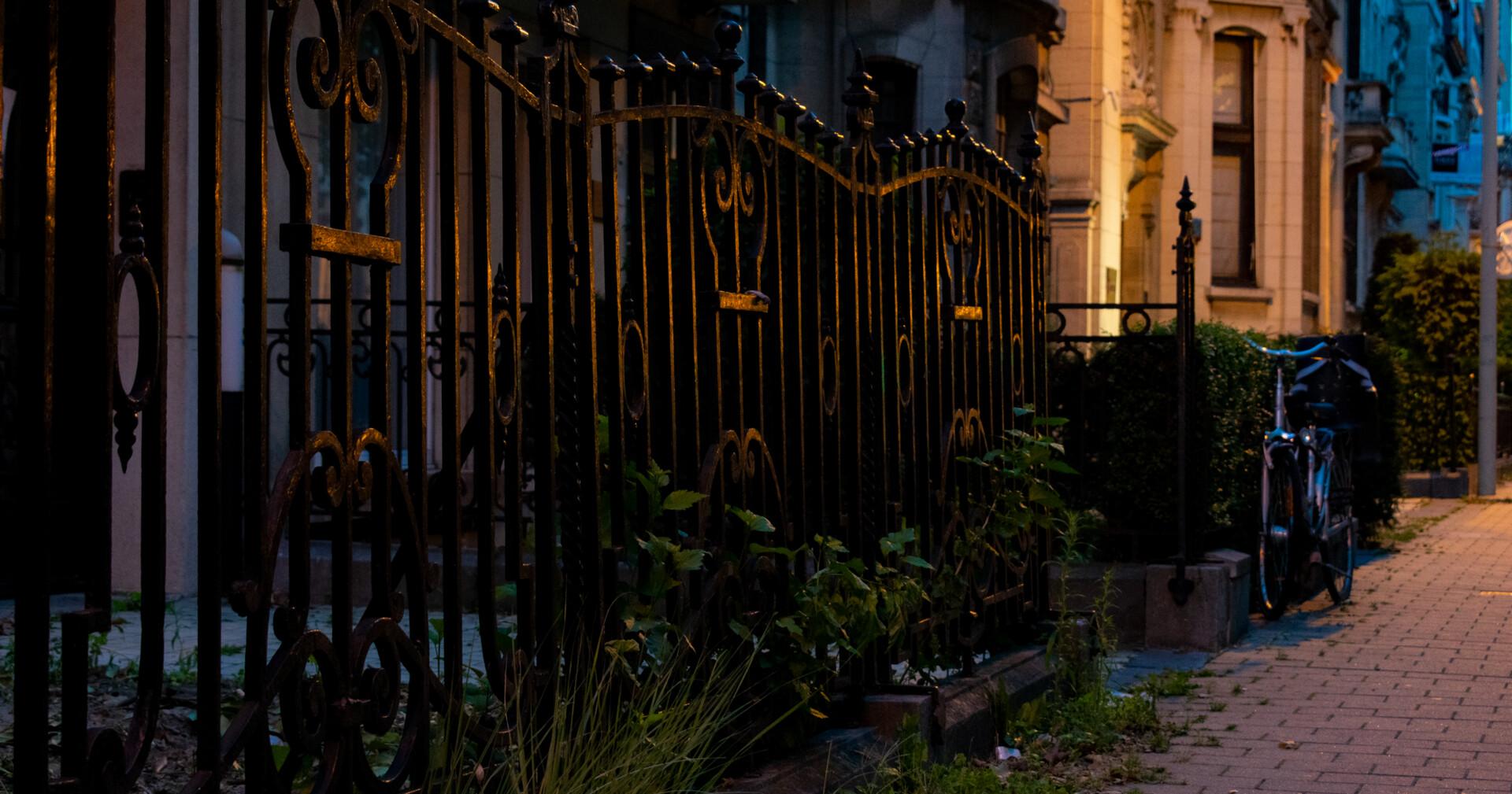 Fence really nice Lighting
