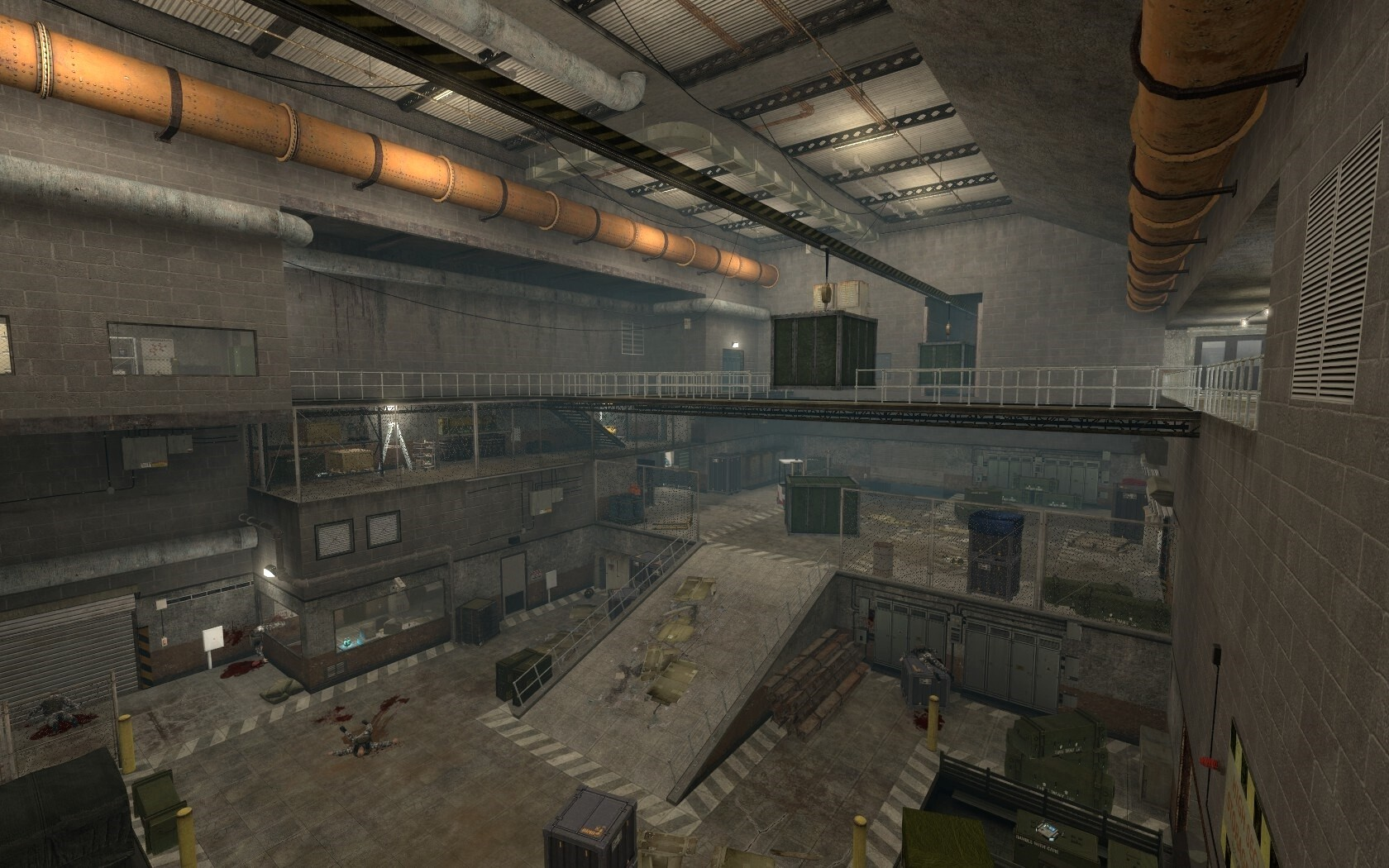 The second warehouse is the area that the player visits the most. I ensured that the environment changed when the player got to it to make it more interesting.