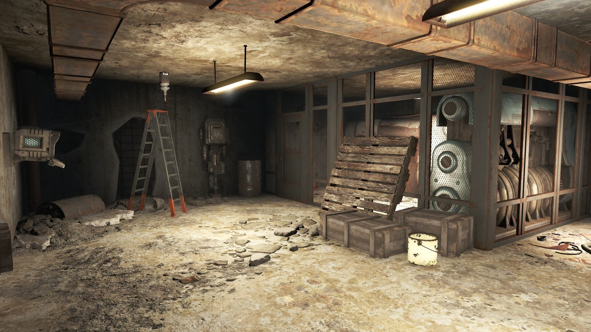 I changed the environmental kit for the basement so it is distinctive and also makes for an interesting location.