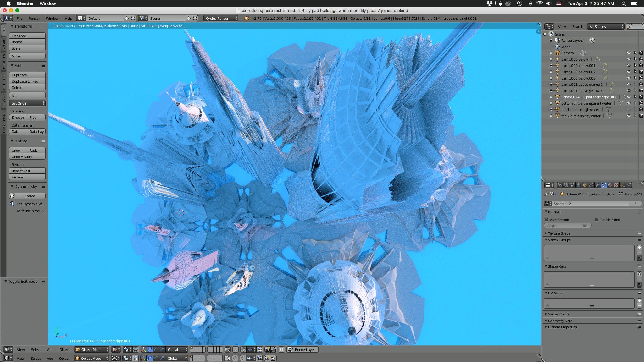 Bird's Eye! So much fun running the camera around through 3d shapes, like a giddy preschool kid!