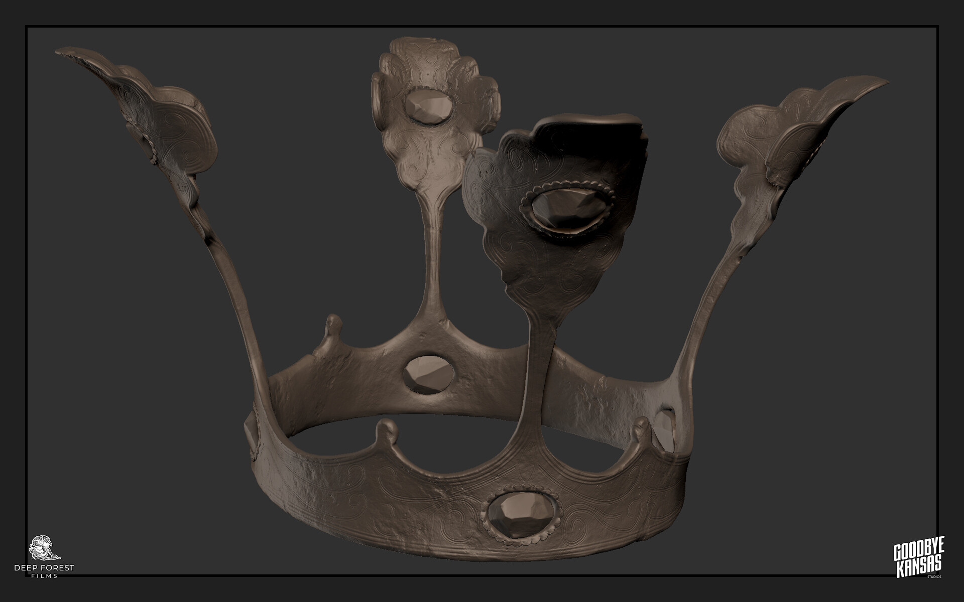 ZBrush sculpt of the princess's crown