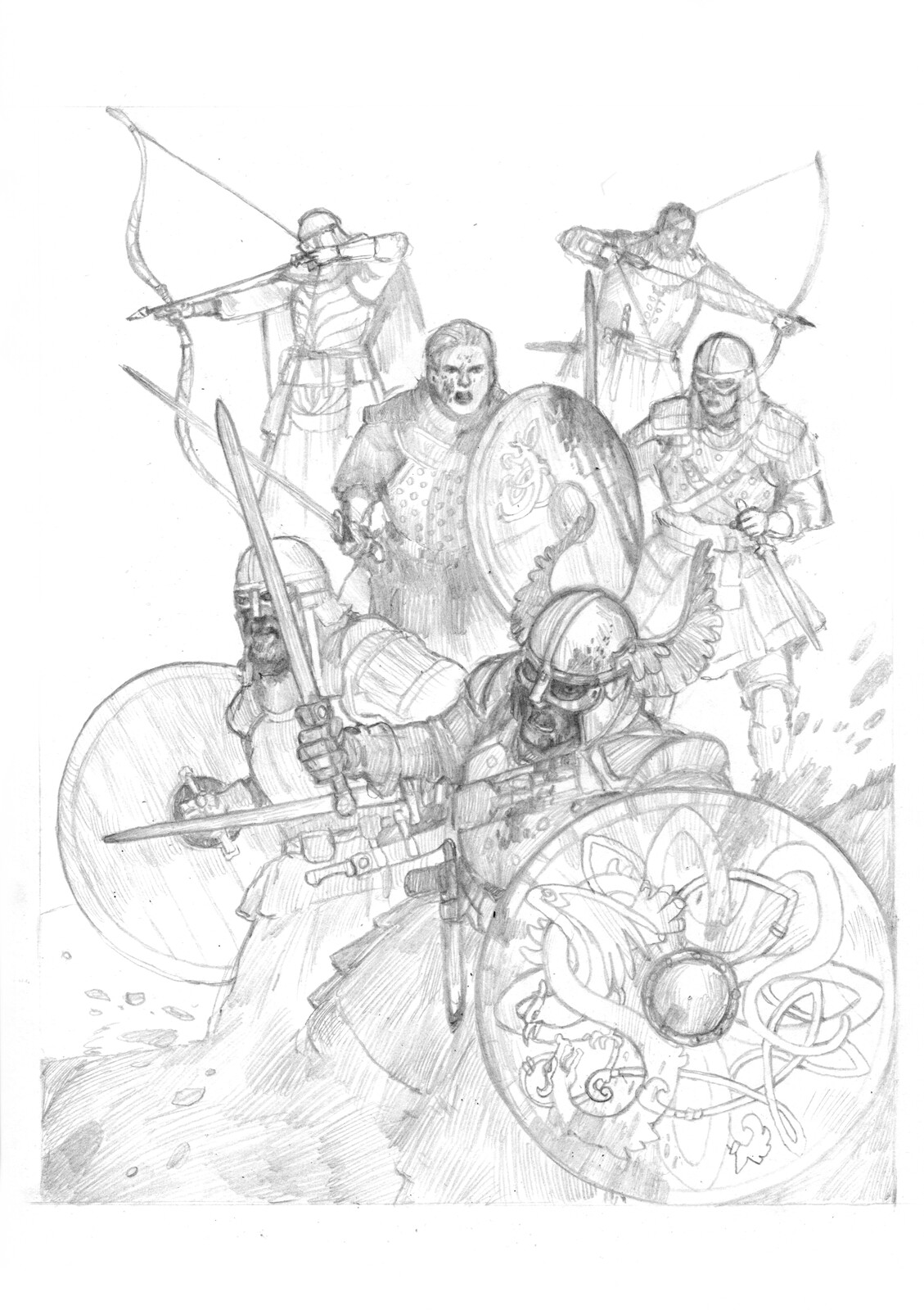 "Sketch of ""The Fight of Beorn against Phileasson"""