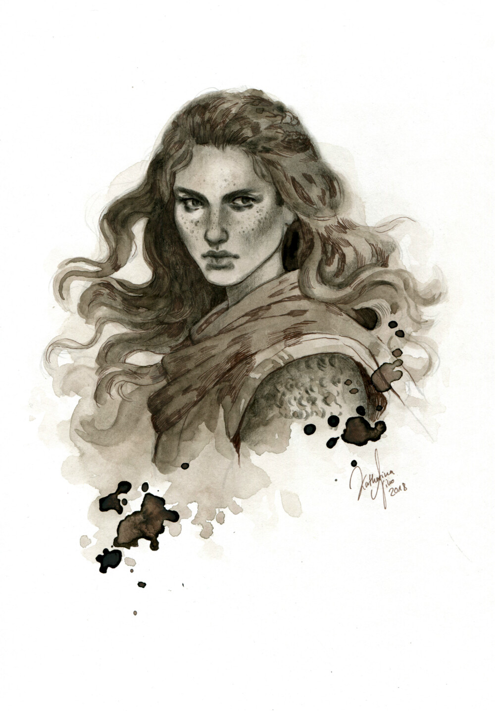 "Tjalva Sturmschlag, a priest of Rondra, who is a fighter godess. Tjalva is played in the German RPG system ""The Dark Eye""."