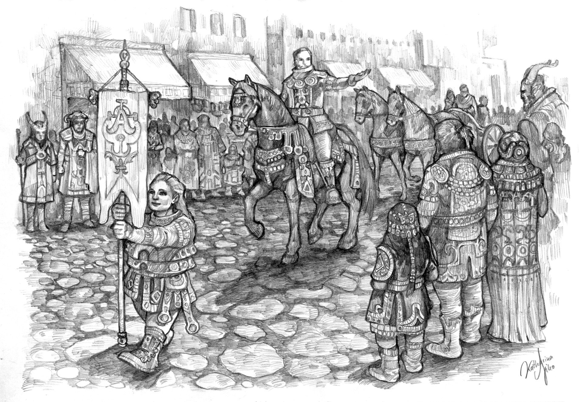 EARTHDAWN: A parade through the streets of a famous merchant