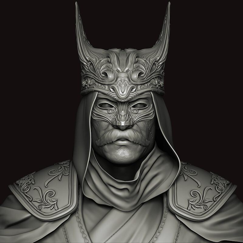 Ottoman Batman Character Art High Poly Sculpt ( W.i.p to game ready )