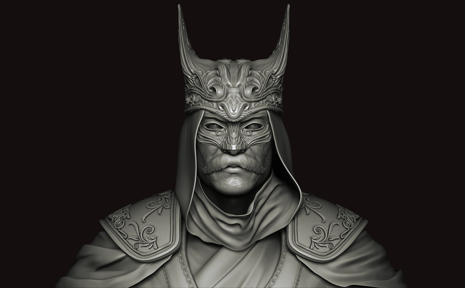 Ottoman Batman Character Art High Poly Sculpt ( W.i.p to game ready )
