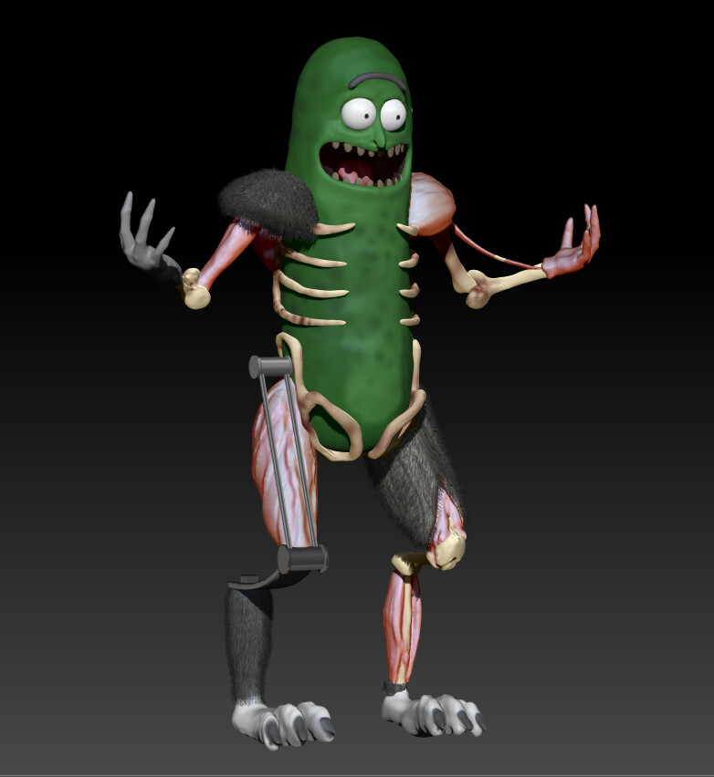 Pickle Rick from Rick & Morty Season 3 WIP