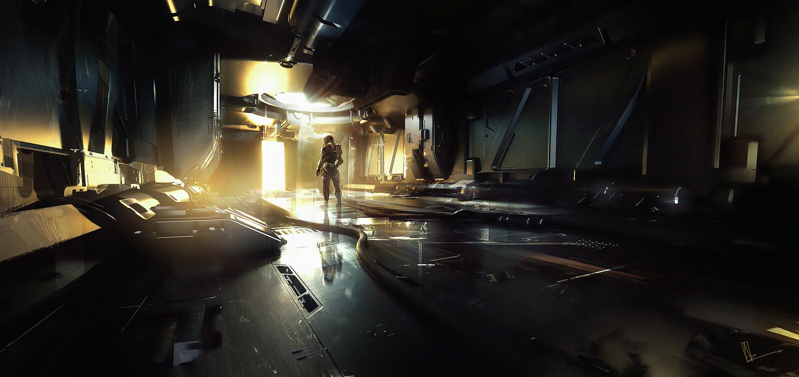 Scifi Corridor Concept