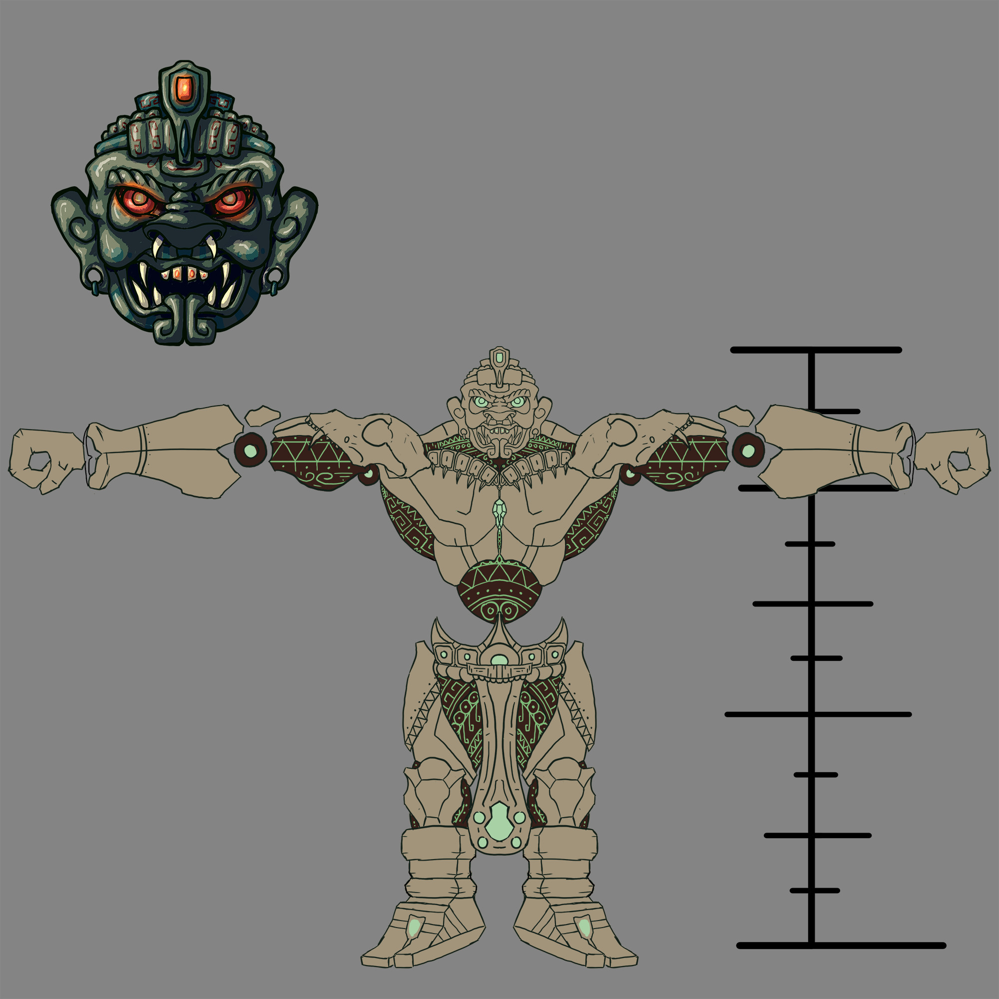 Modeling sheet (front view).