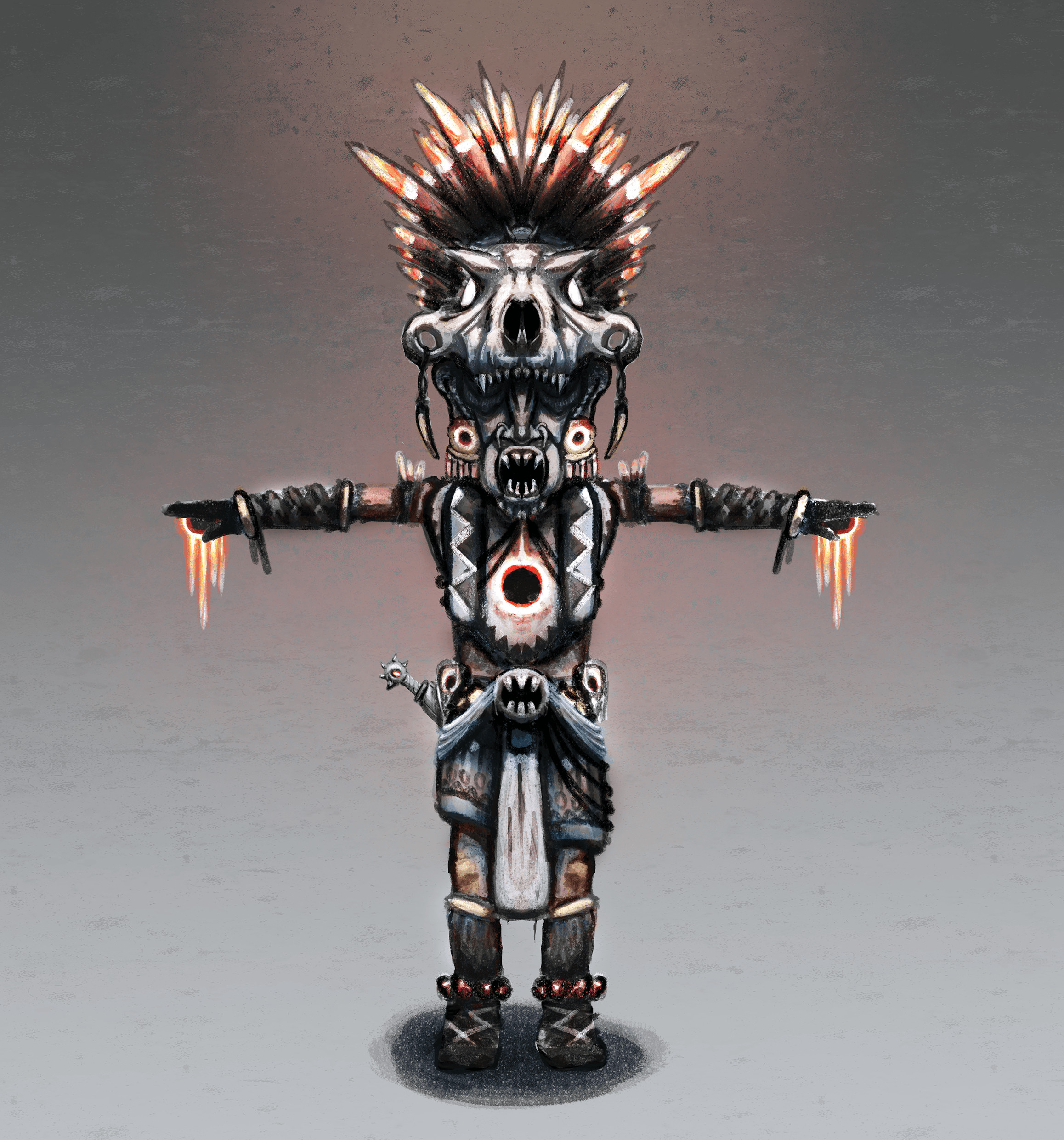 Concept Art of the final boss of Tiny God.