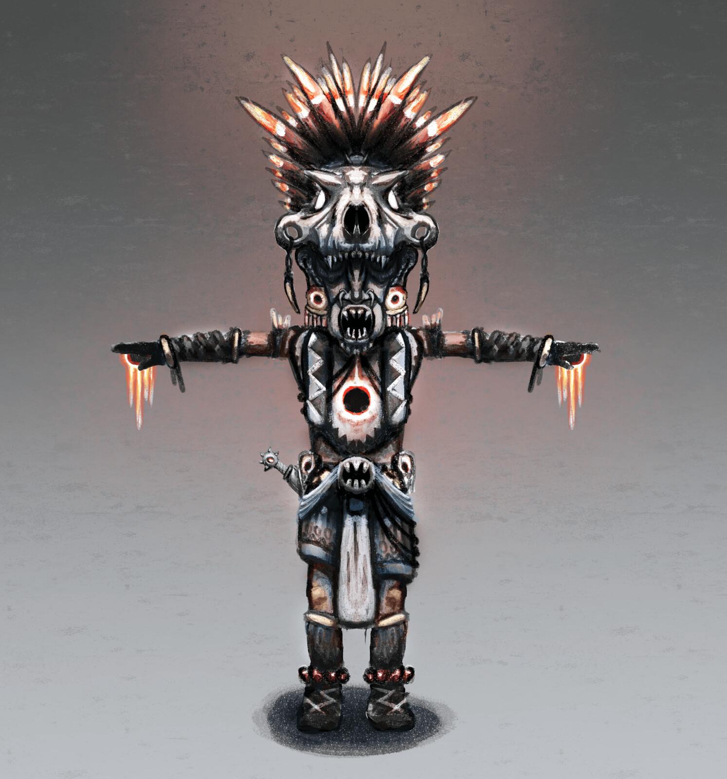 Tiny God - Mesoamerican Priest