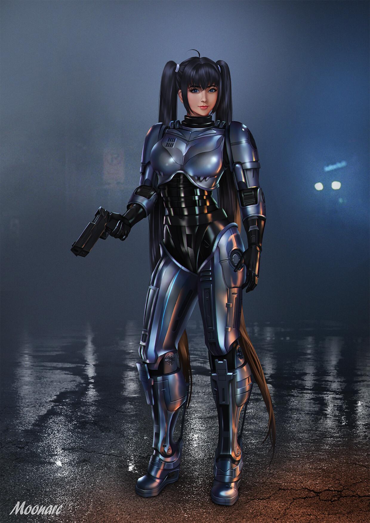Artstation - Robocop Girl, Audia Pahlevi-2319