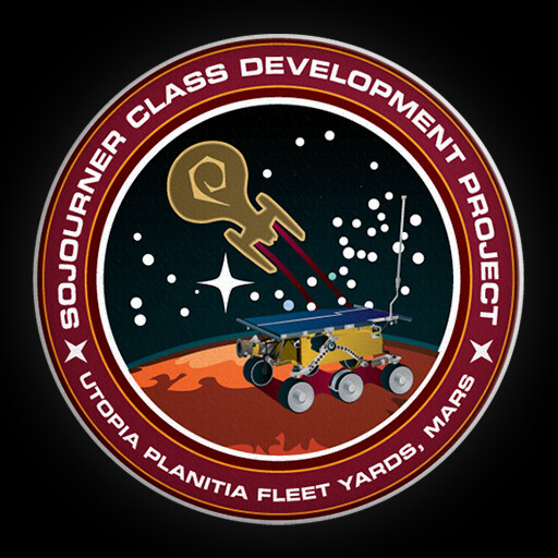 "The ""mission patch"" for this ship, created in Adobe Illustrator"