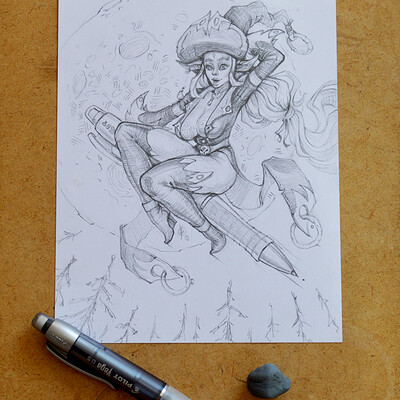 Andrey kamenov witch newpencil 15x20 photo