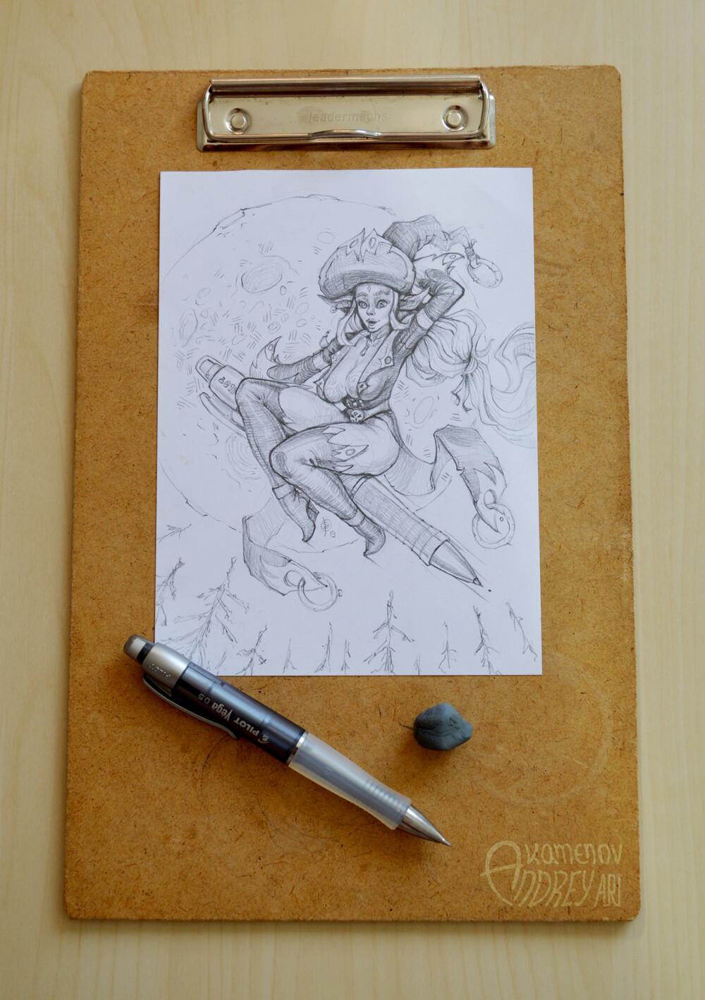 Andrey kamenov witch newpencil 15x20 photo