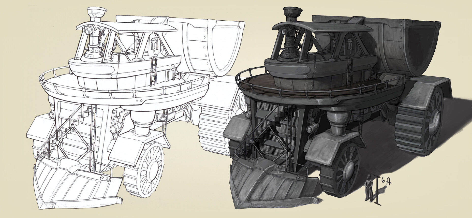 Artstation Steampunk Vehicle Behemoth Nathan Mccoic