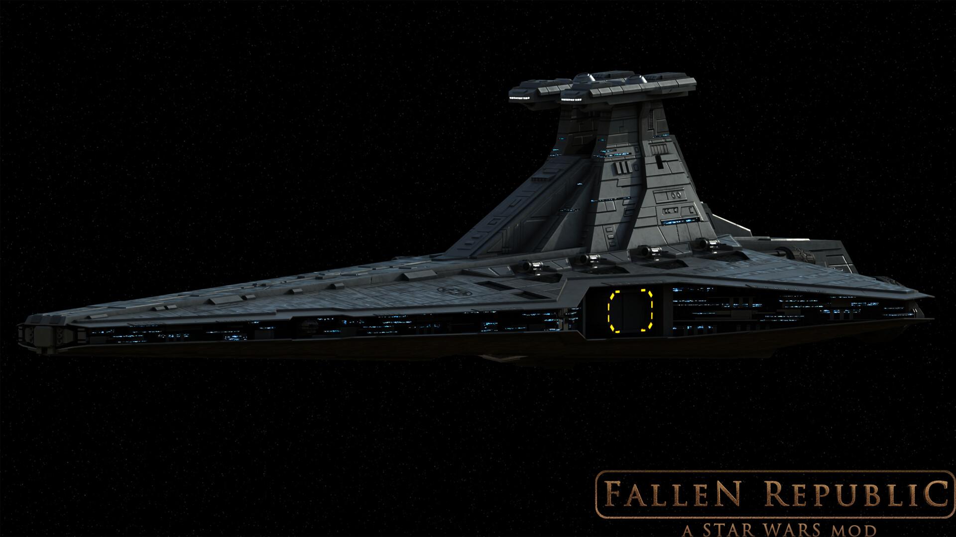 Artstation Fallen Rebuplic Imperial Venator Sd Daniel T