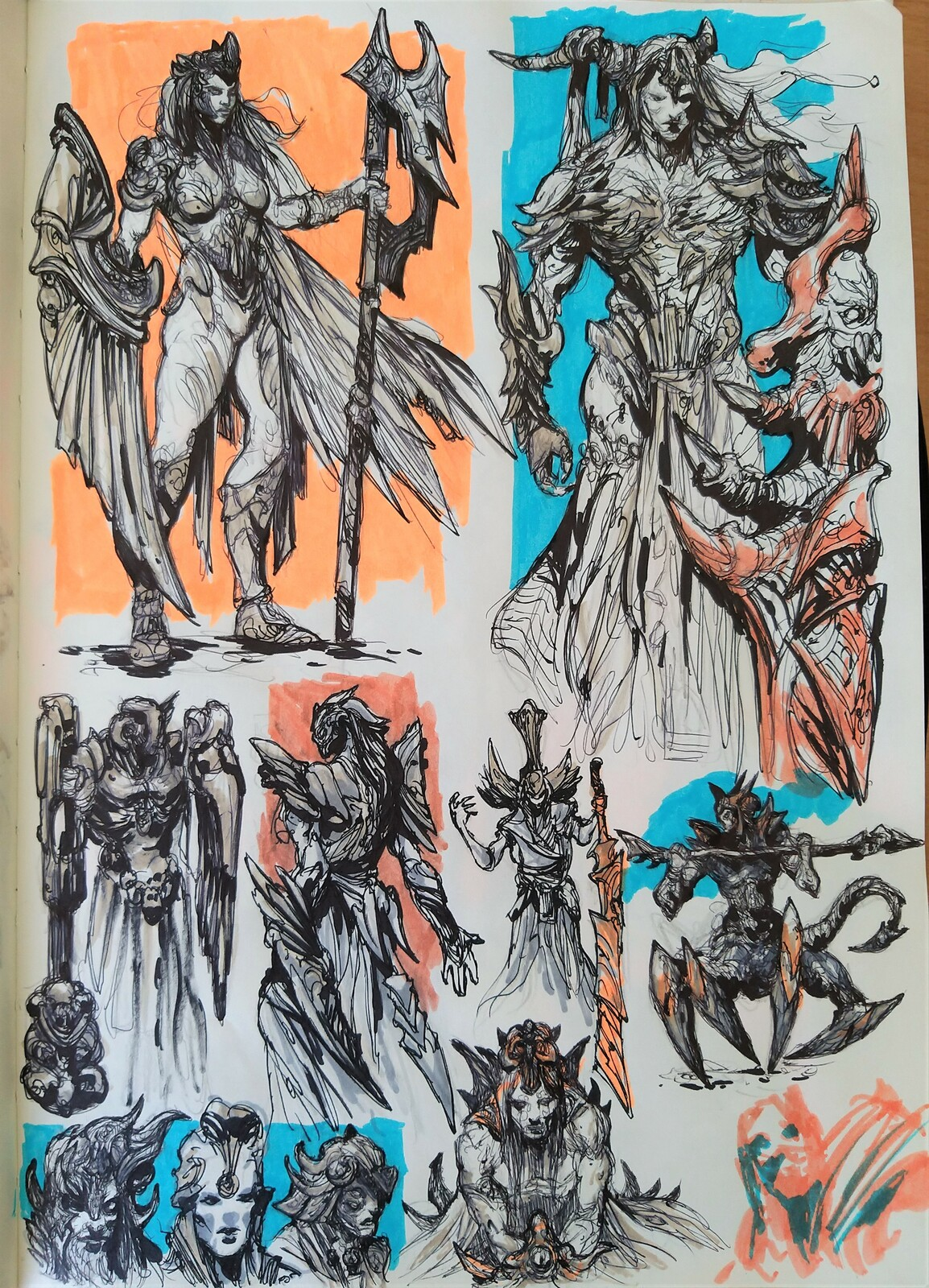 Sketchbook Traditional Drawings/ Concept designs