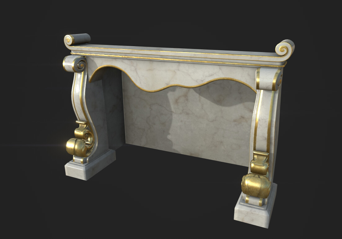 Ornate Fireplace - Substance Painter