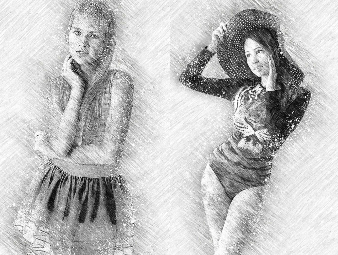 ArtStation   Pencil Drawing Photoshop Action, denis marvin