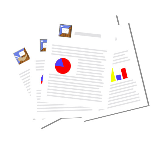 A static version of the paper stack icon