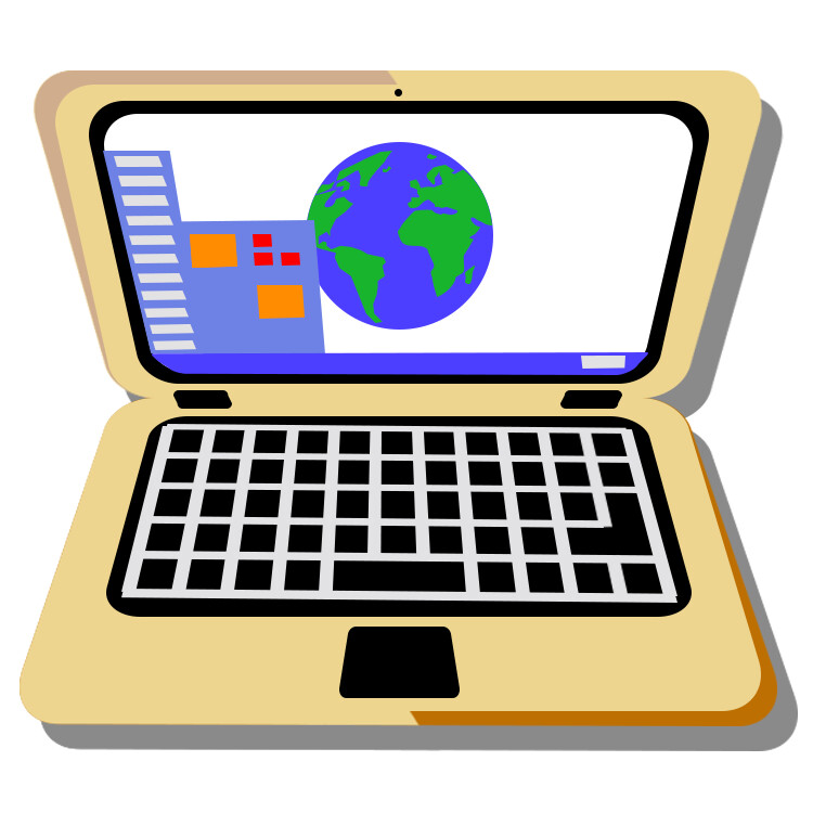 A static version of the work laptop icon