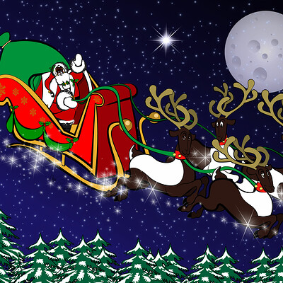 Larry springfield santa s sleigh