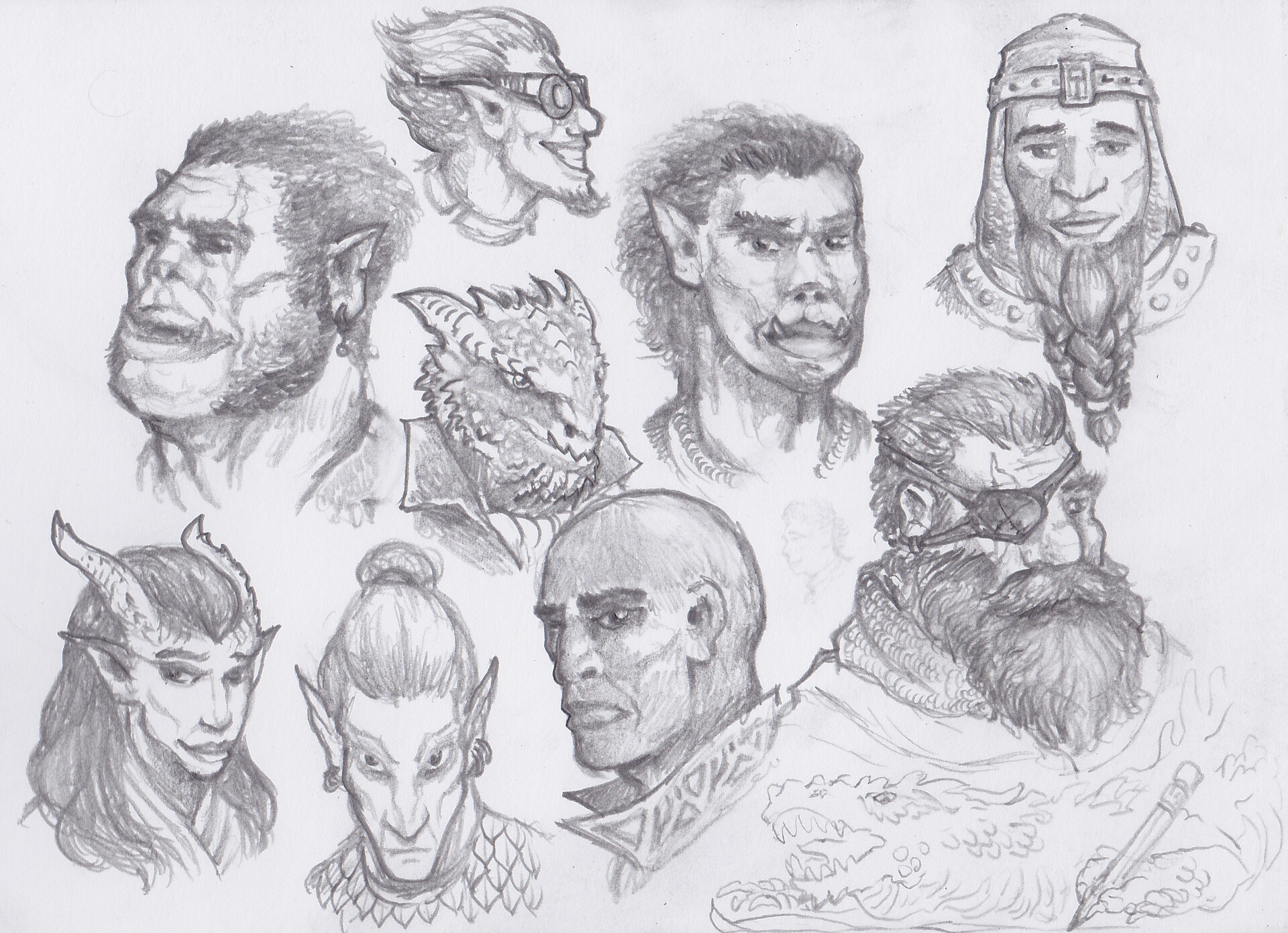 Artstation Headshots Dnd Races 5e Matt Brown