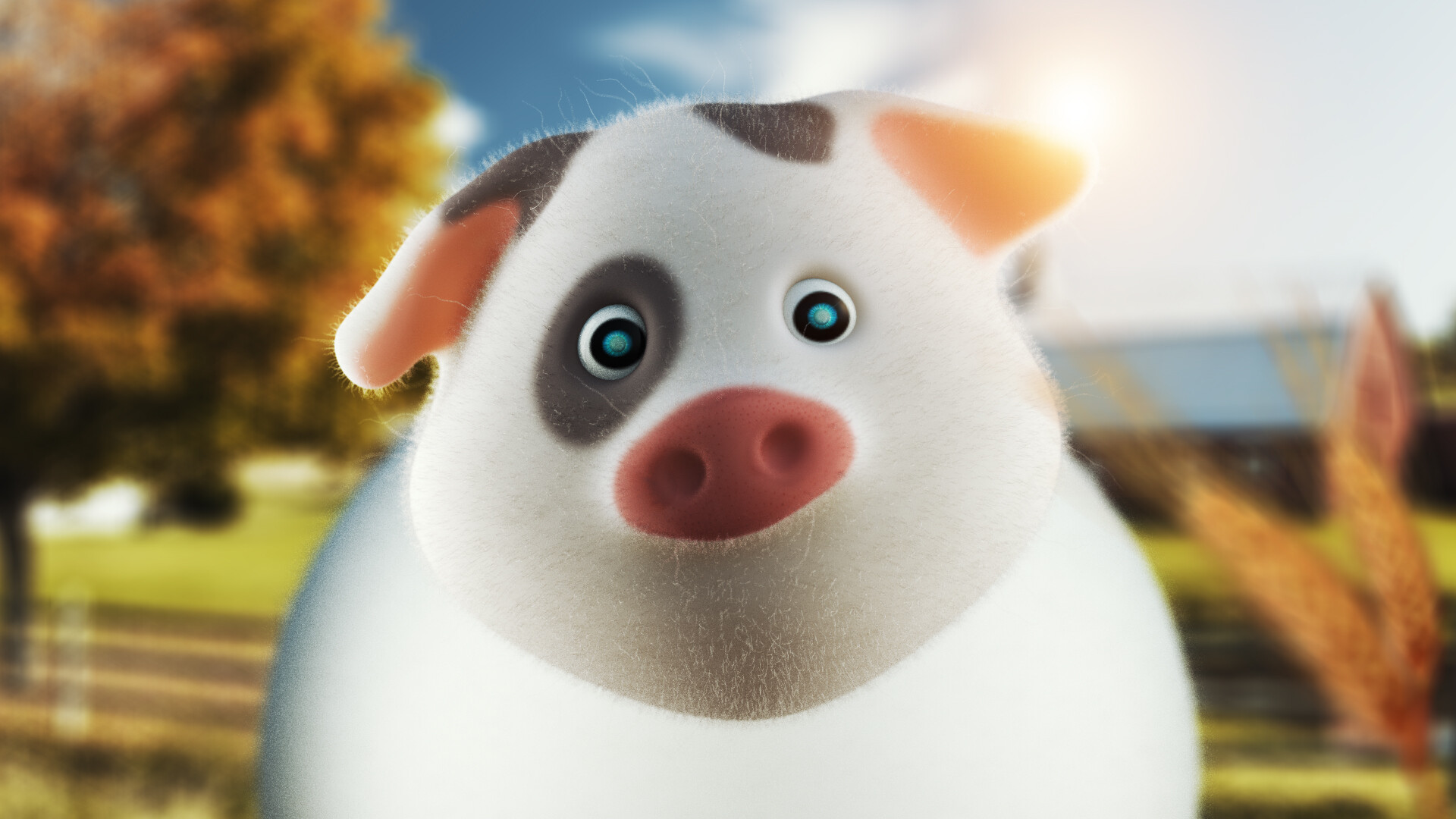 Cartoon Farm Pig