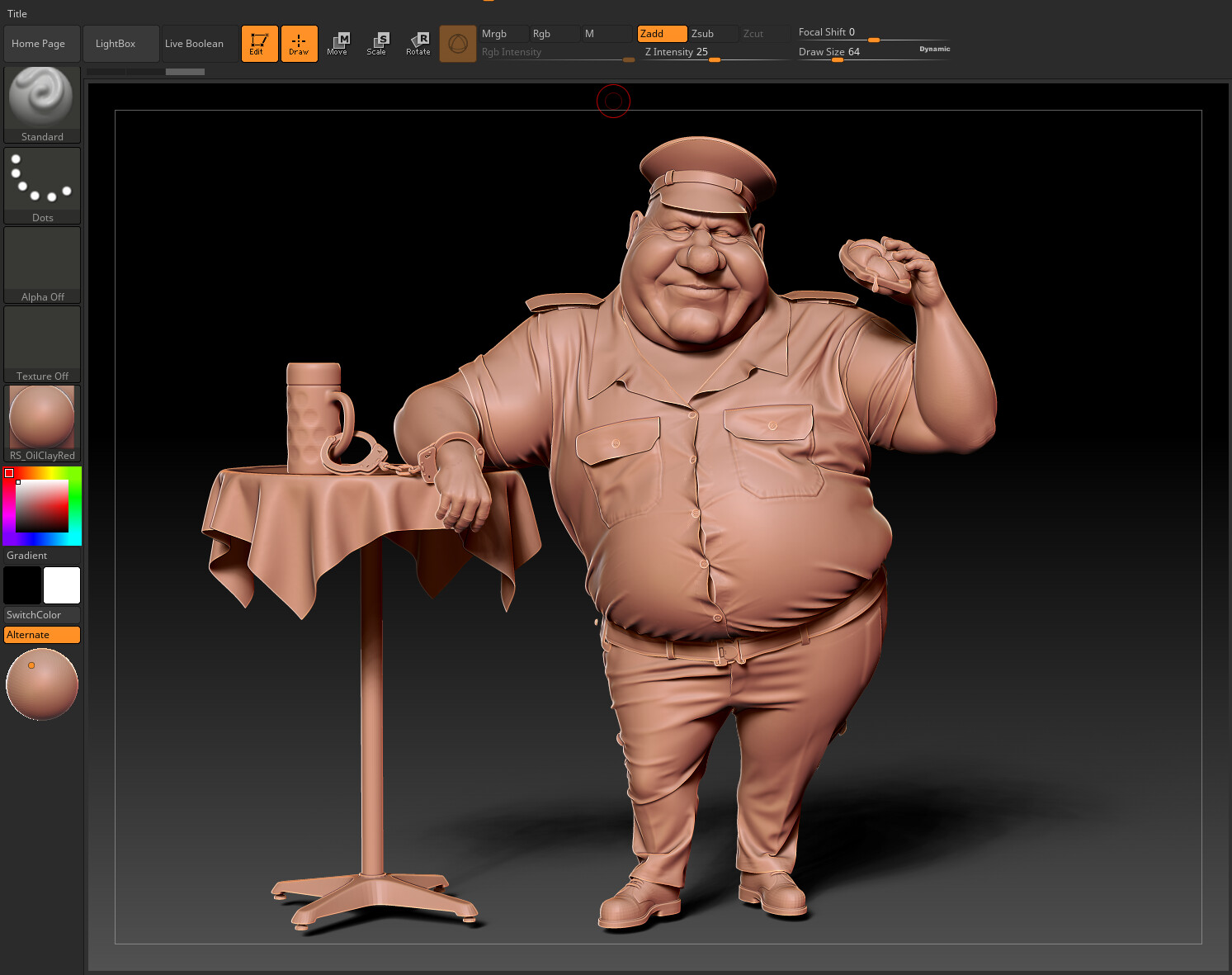 Zbrush Render Front