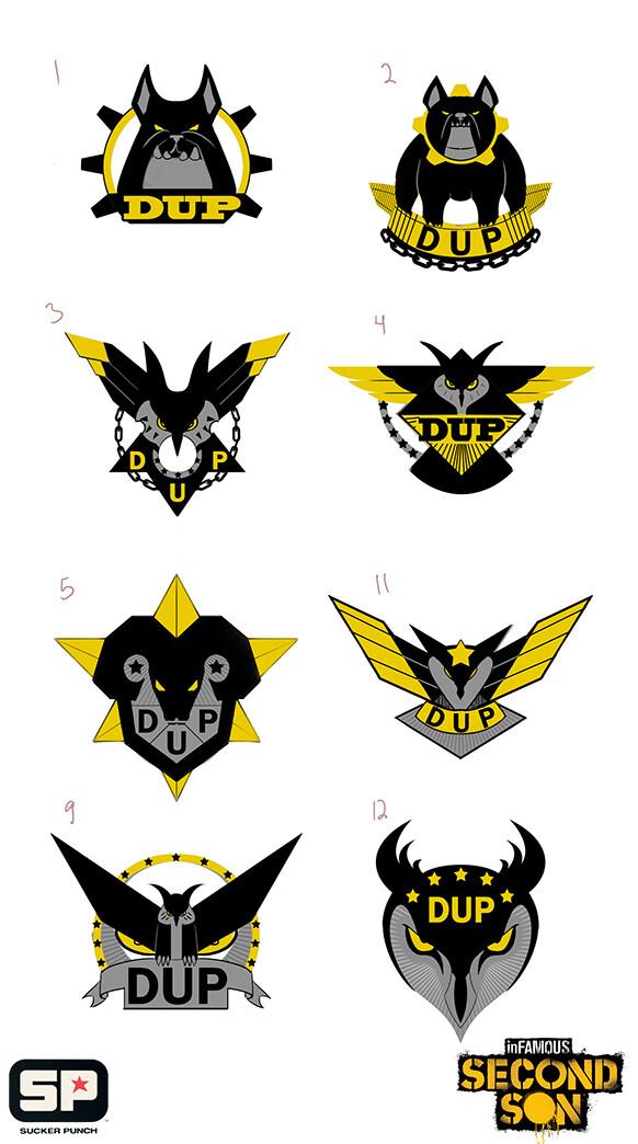 DUP private security emblem concept exploration
