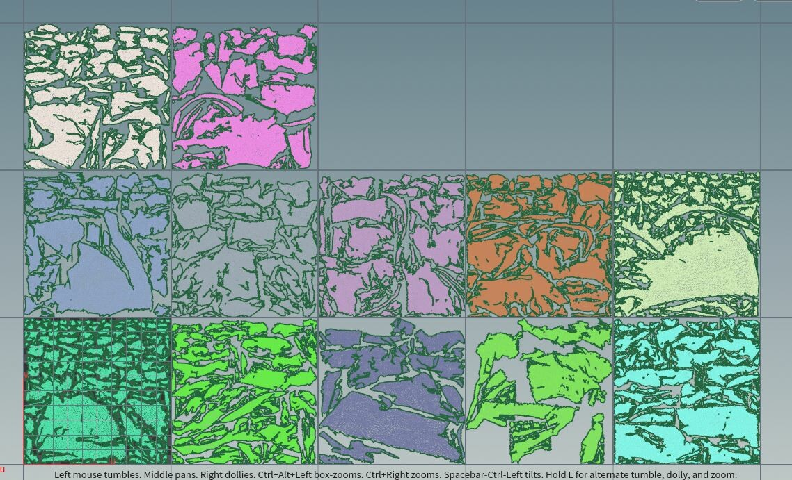 Procedural UV layout with  a limit of 5 tile in U.