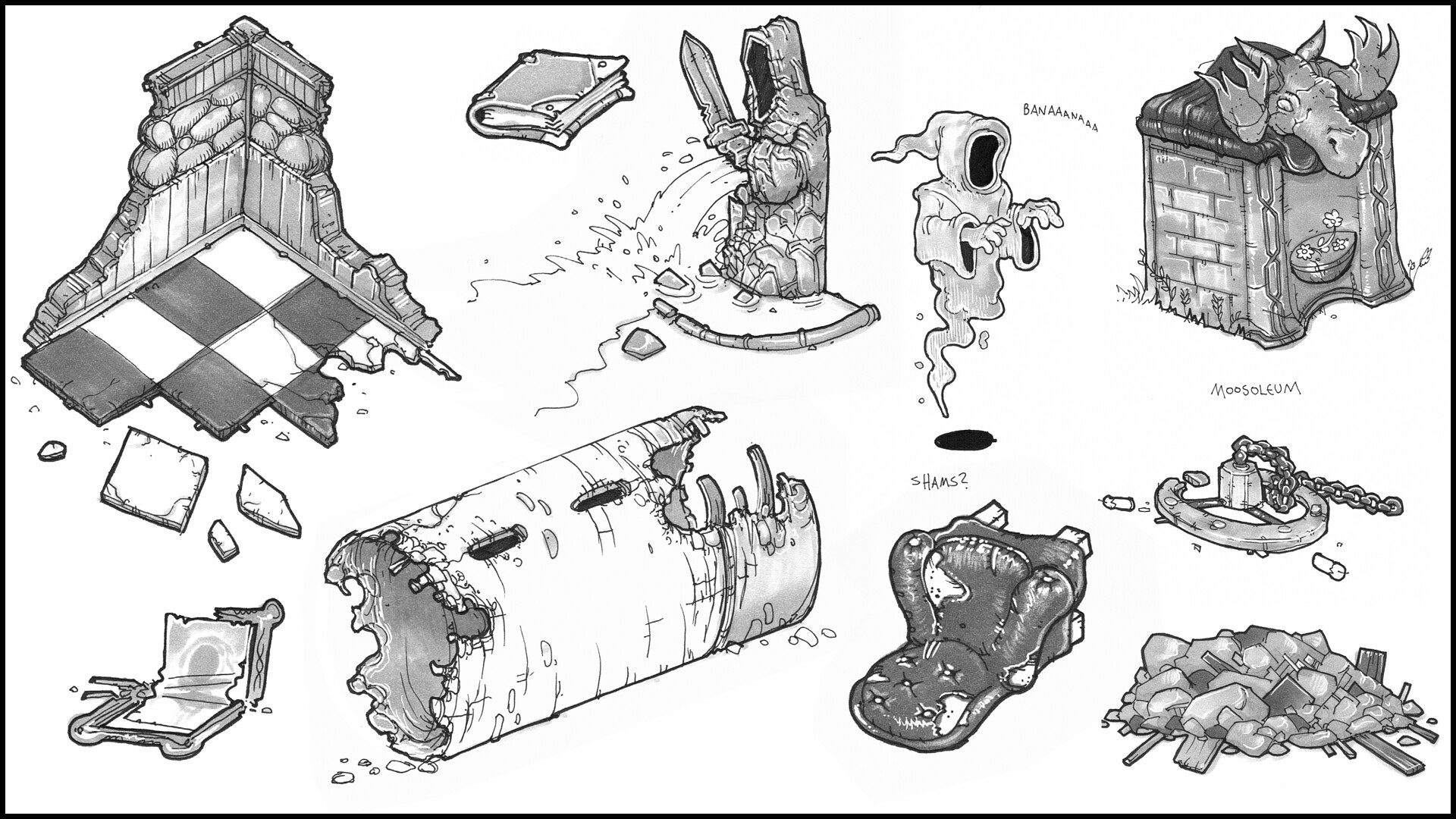 Concepts for various props
