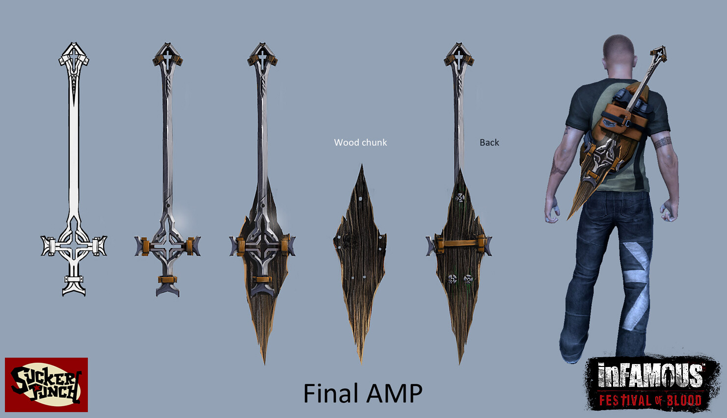 Concepts for Cole's new main weapon
