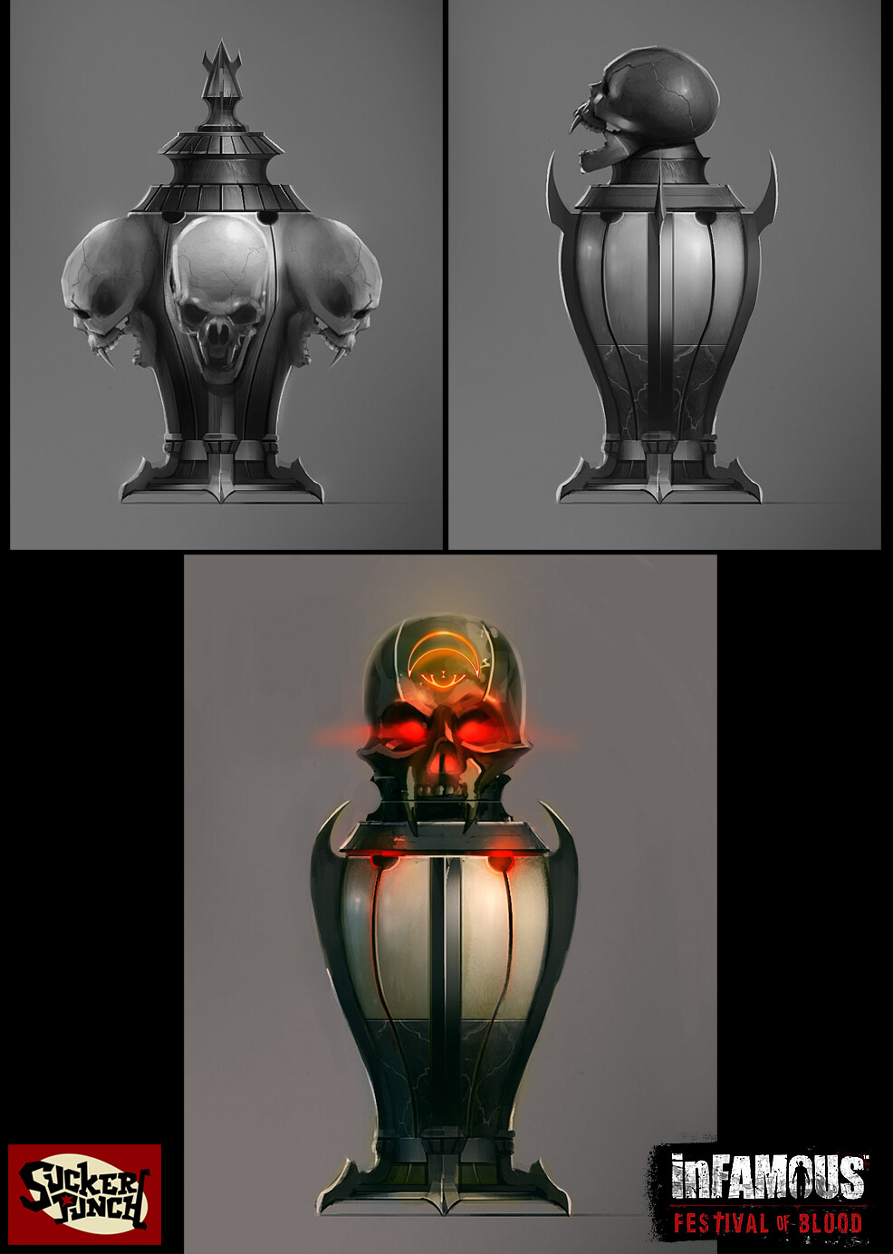 Concept for collectible urns found around the city