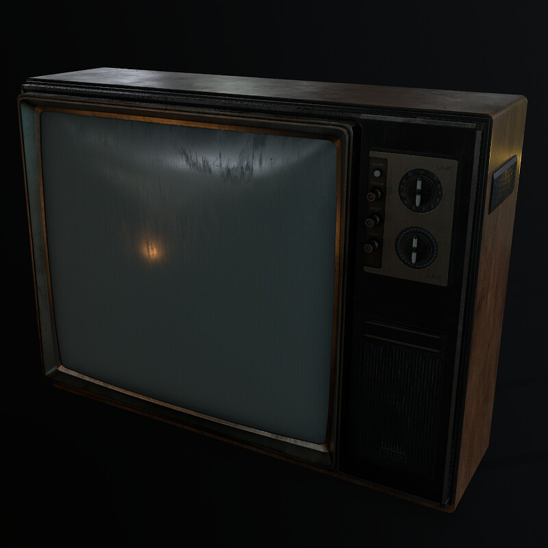 Old TV (Part of Horror Living Room Asset Pack - WIP)