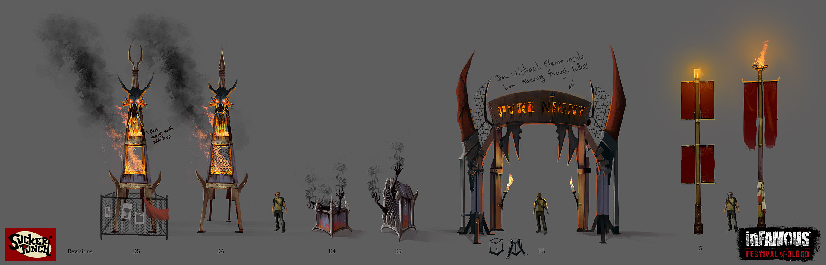 Concepts for plethora of event props placed around the city for the events in game