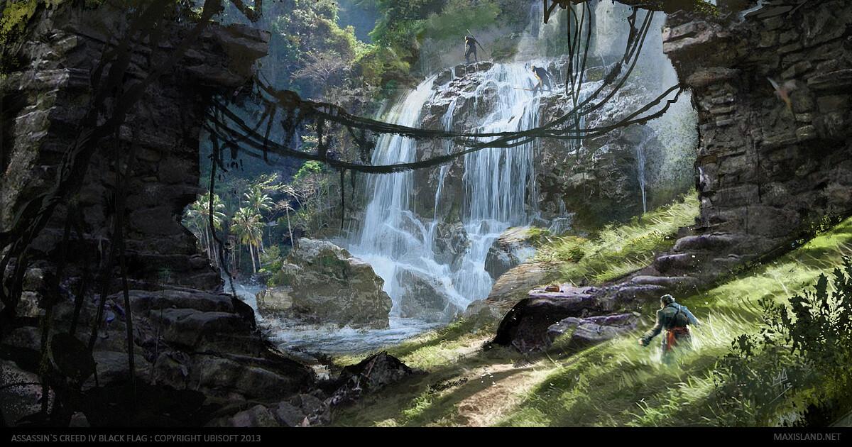 Natural landmark : waterfall Photoshop (2012-2013)