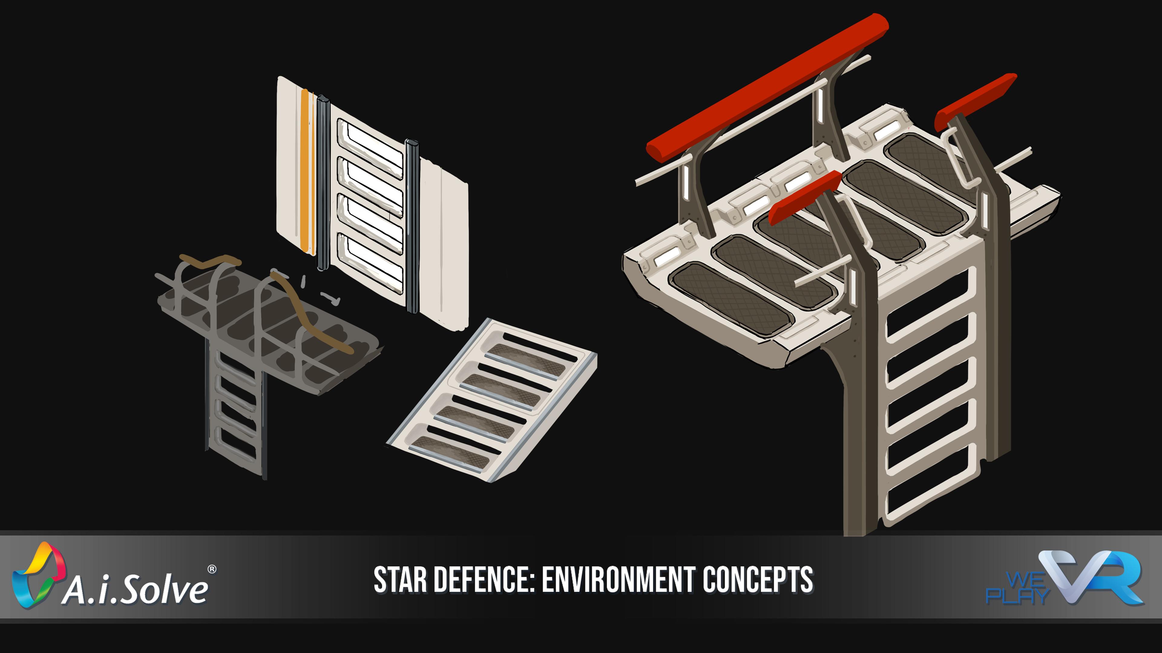 Mid-ship walkway, stairs and railings