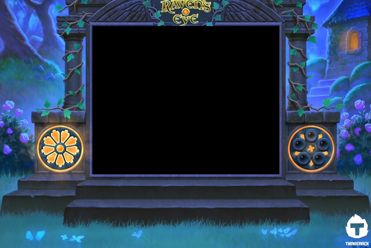 The bonus game background. The meters on either side of the frame became the most difficult part of the whole project.