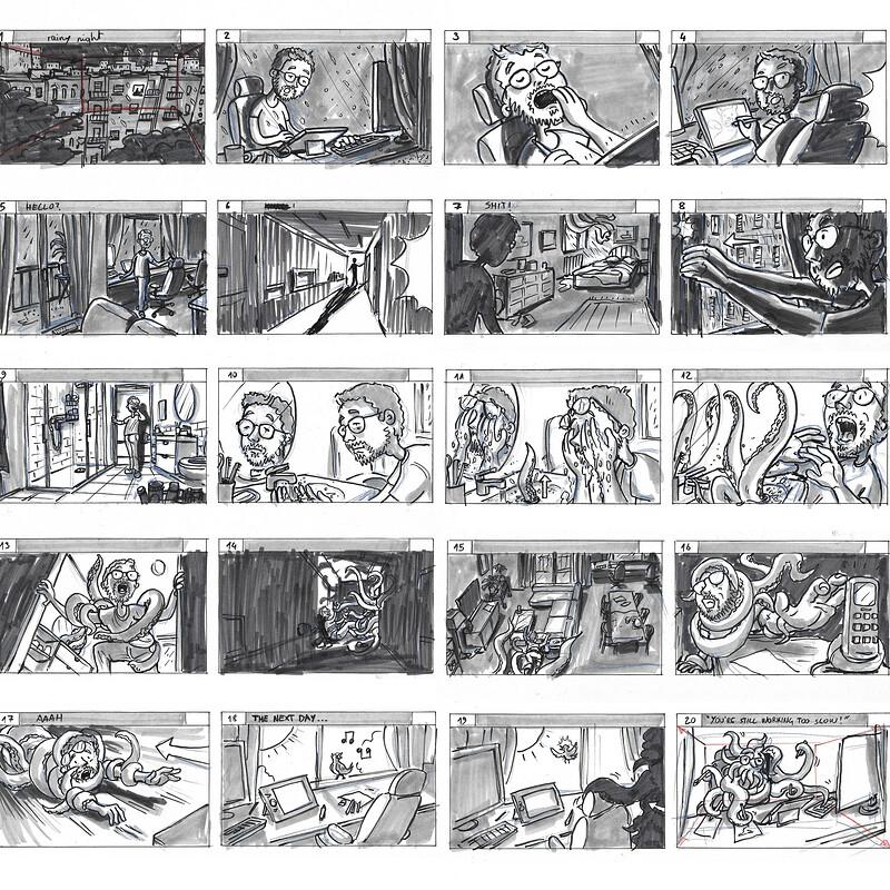 Metamorphosis Storyboard + Comic