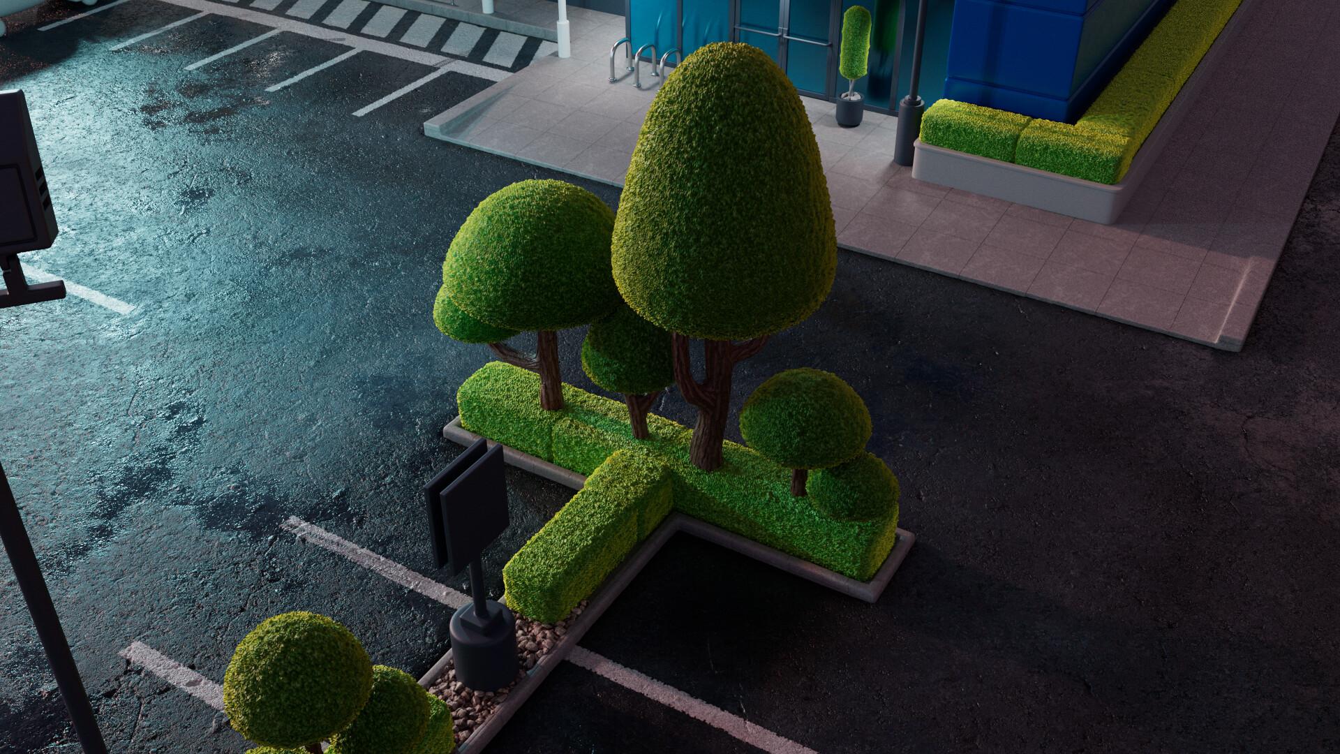 LookDev test of vegetation