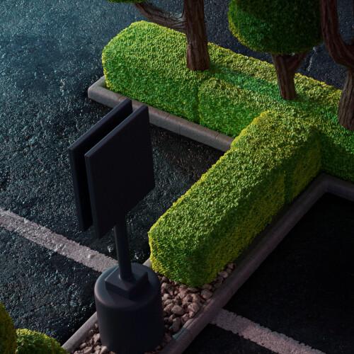 Crop on Vegetation/asphalt details.