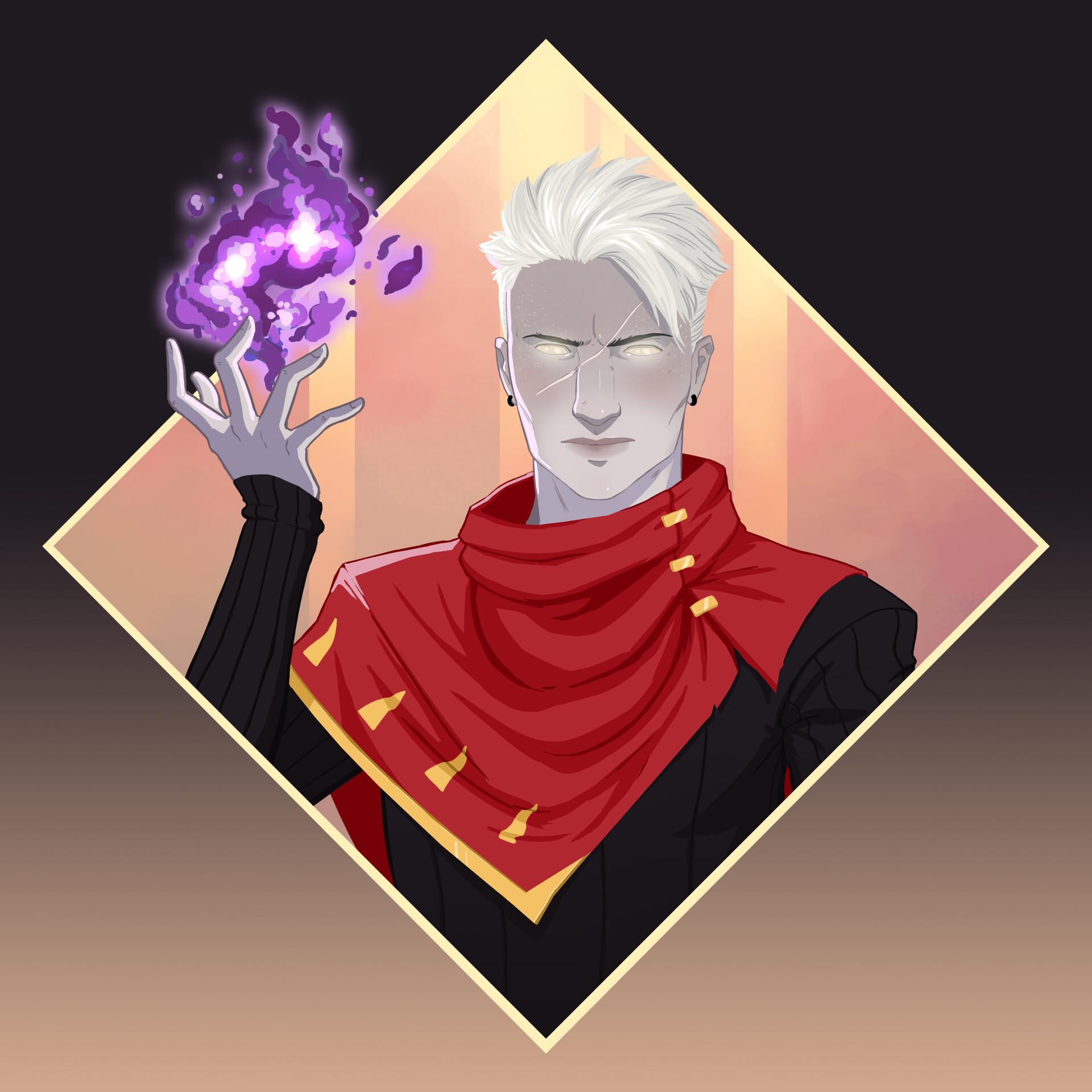 Aasimar Sorcerer artstation - zoltar, the fallen aasimar sorcerer, vinicius goro