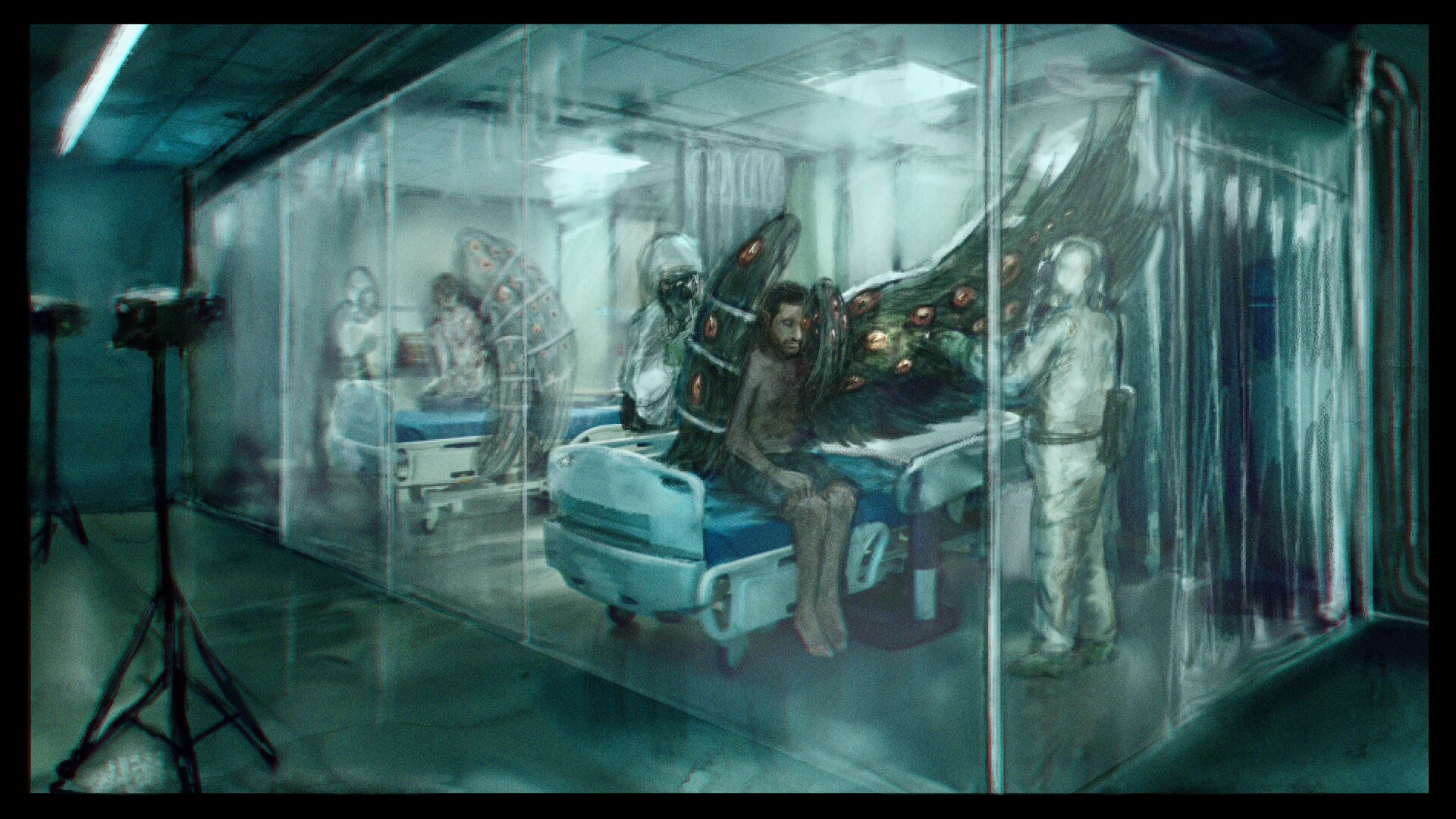 Victims of the anomaly are kept in a quarantined medical bay where they receive careful treatment.   All four victims (two staff, two church) have survived direct exposure to the anomaly.
