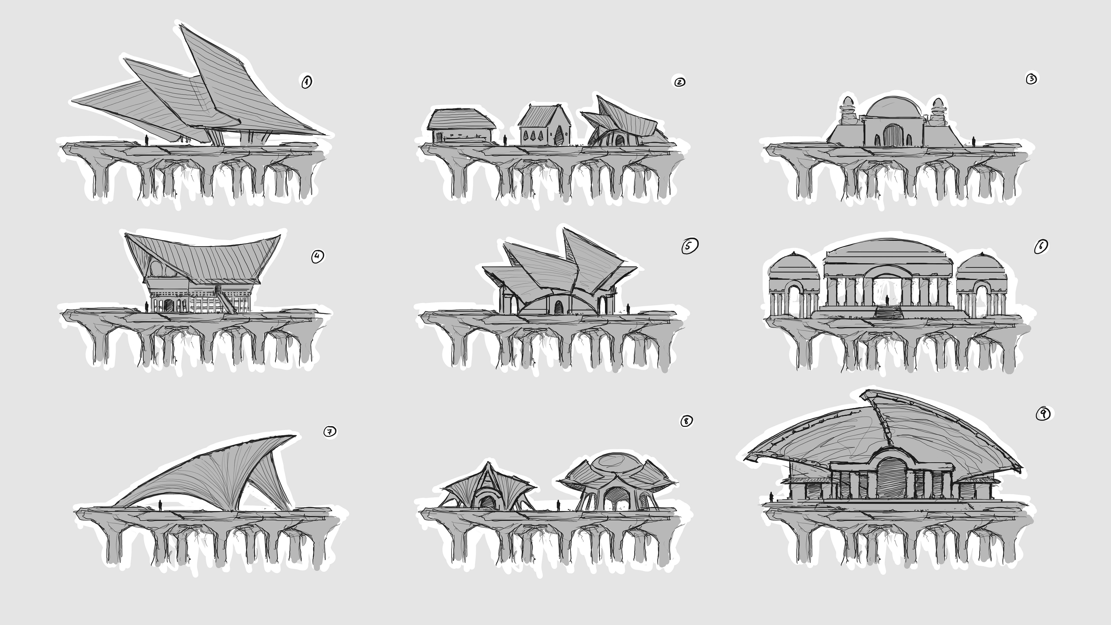 Architectural style exploration, early phase.