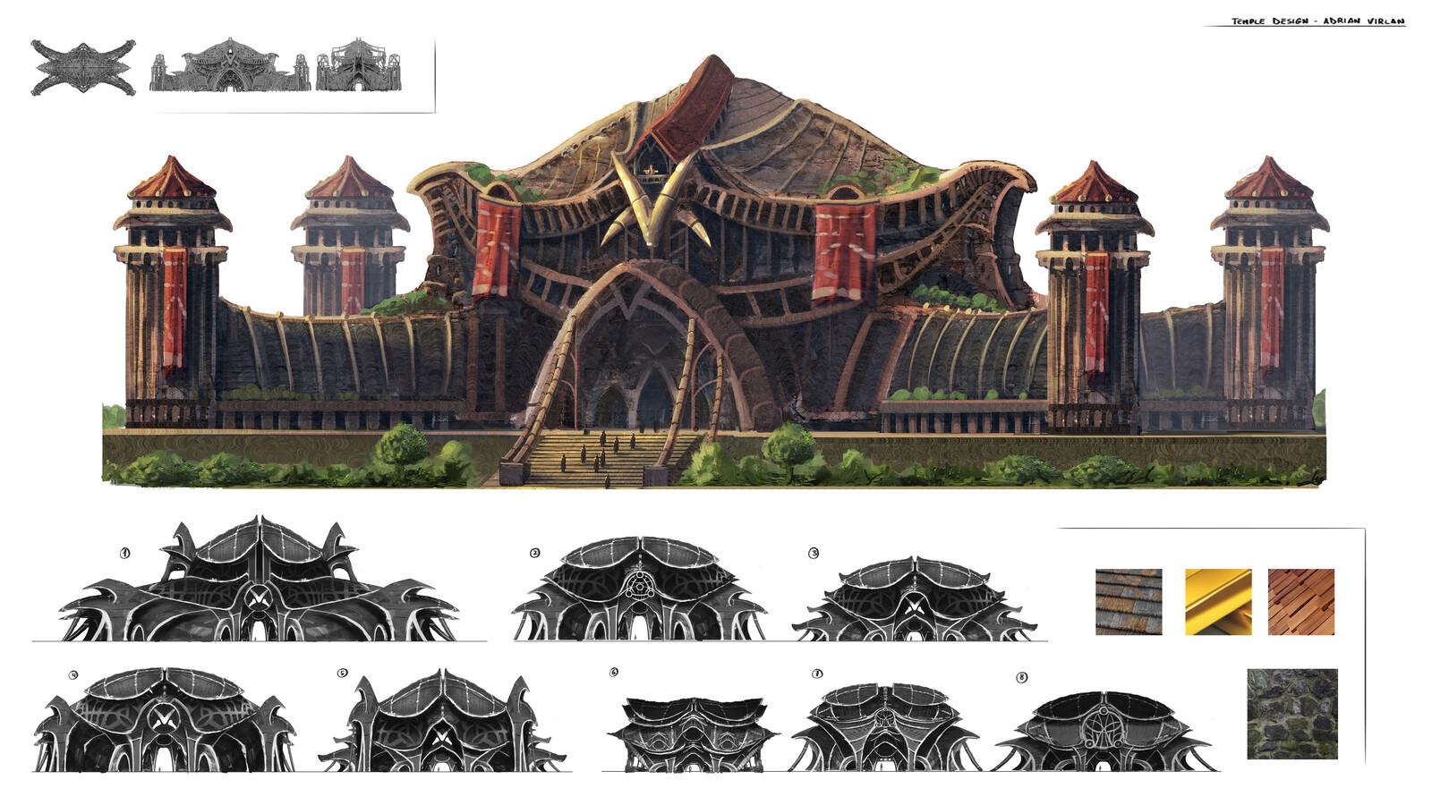 Evil temple design