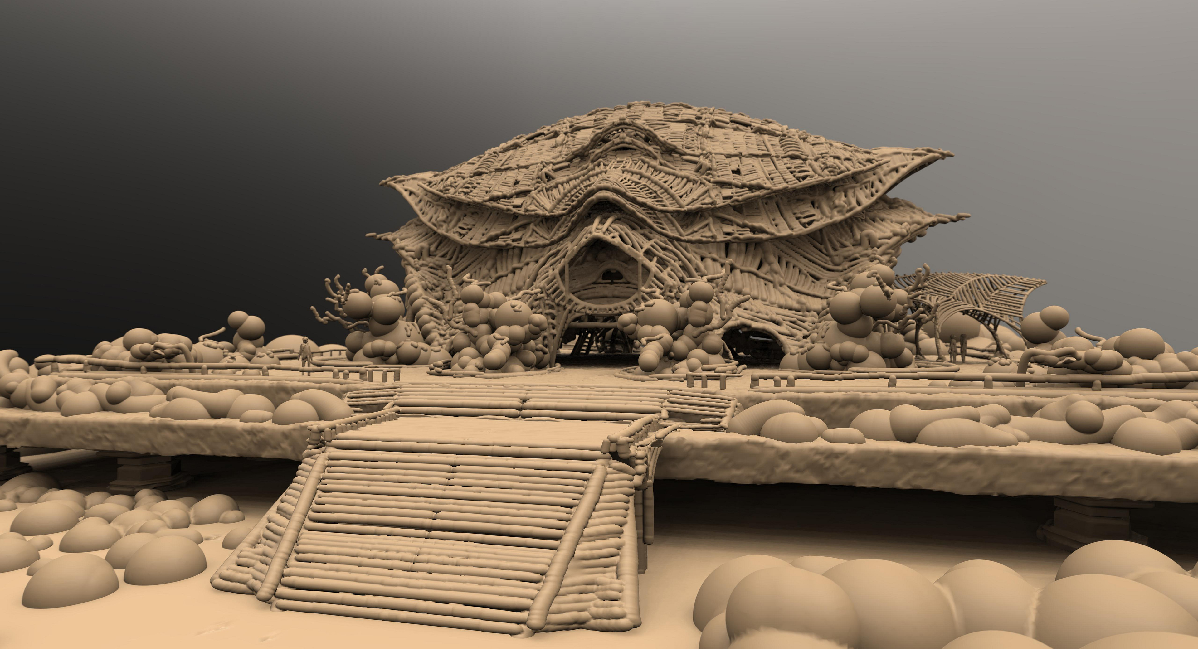 Early 3D model that influenced certain aspects of the final design