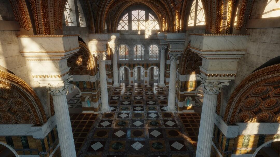 The Basilica of Maxentius - Interior