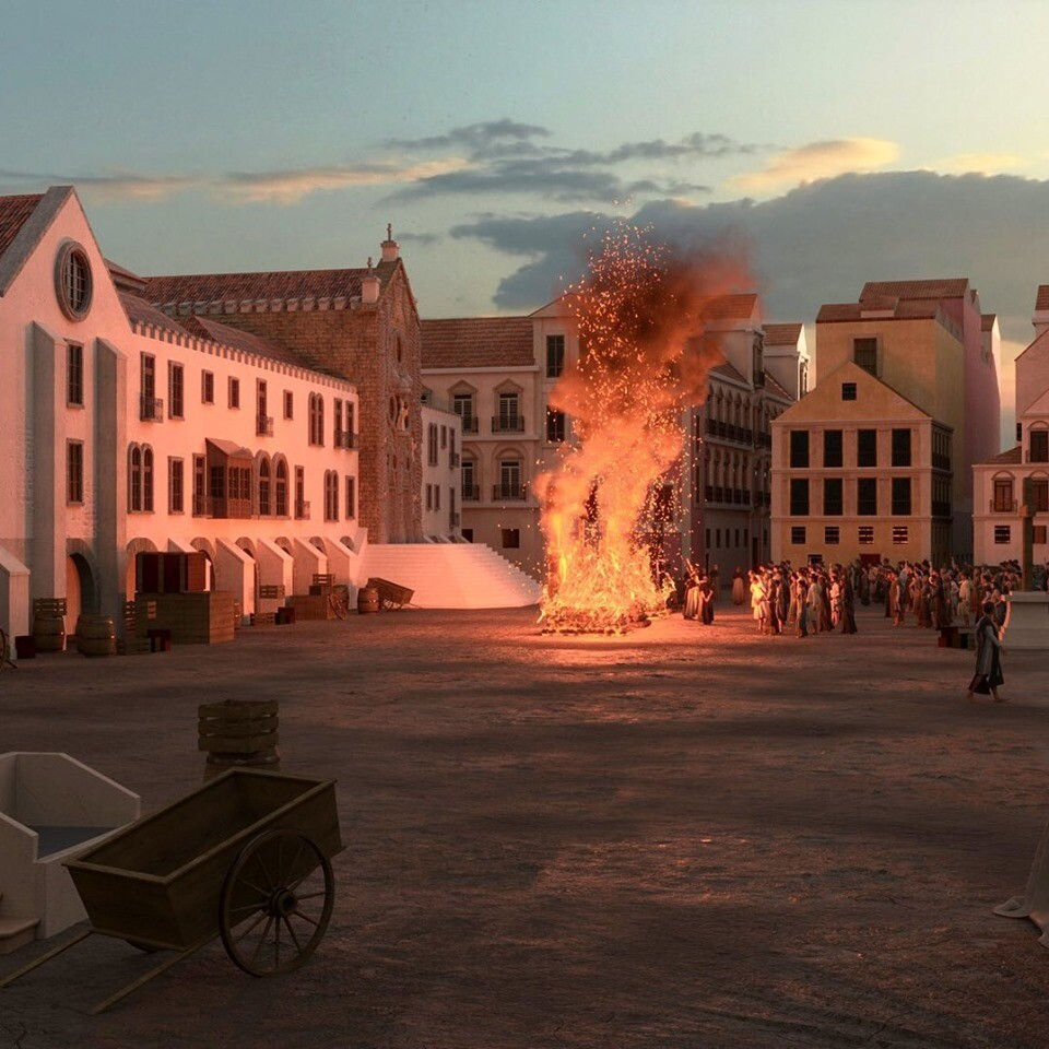 Rossio Square in Lisbon. I've been responsible for the characters in the scene, modelling, clothing and rigging.